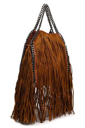 STELLA McCARTNEY Frayed faux leather shoulder bag