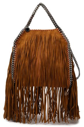 STELLA McCARTNEY Frayed faux leather shoulder bag