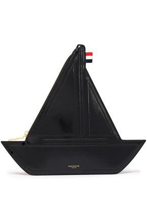 THOM BROWNE Sailboat coated-leather clutch