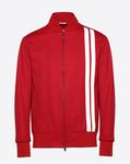 Blouson with vertical stripe inlays