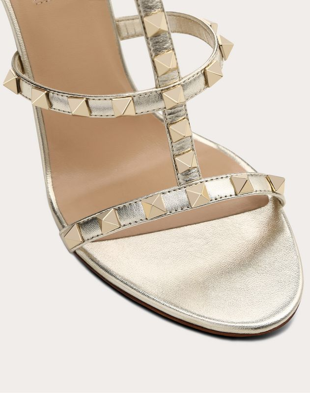 Metallic Cage Rockstud Sandal 100mm