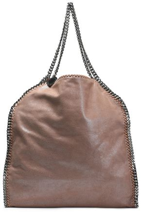 STELLA McCARTNEY Falabella metallic faux brushed-leather shoulder bag