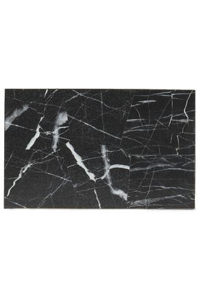STELLA McCARTNEY Stone marbled acrylic box clutch