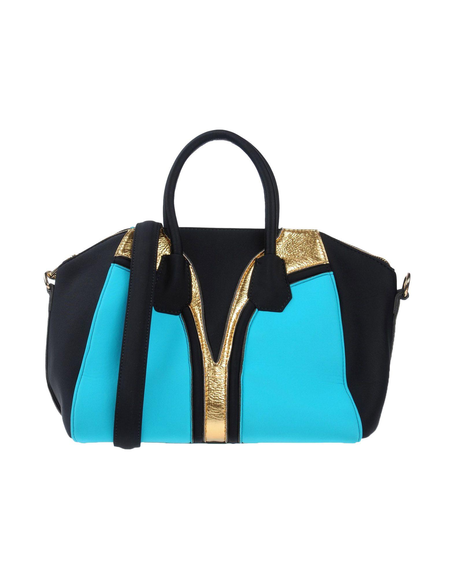 《送料無料》VIA MAIL BAG レディース ハンドバッグ ターコイズブルー 紡績繊維