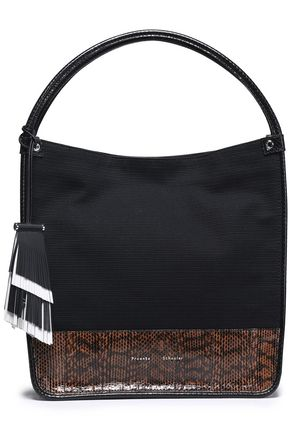 PROENZA SCHOULER Elaphe-paneled canvas tote