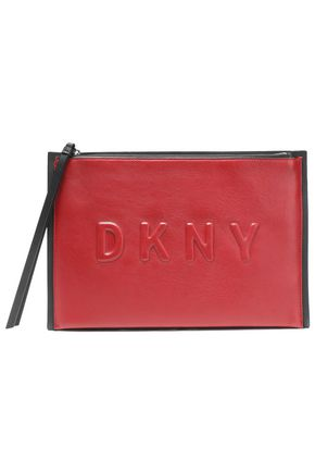 DKNY Embossed leather clutch