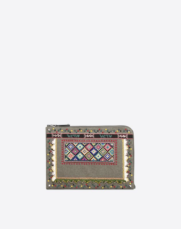 Embroidered Document Case
