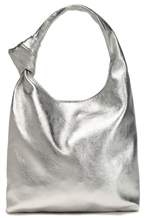 LOEFFLER RANDALL Knotted metallic leather shoulder bag