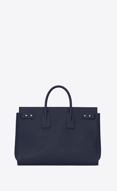 SAINT LAURENT Sac de Jour Men Man large sac de jour souple bag in navy blue leather b_V4