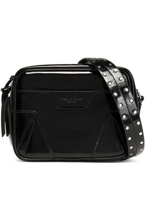 RAG & BONE Studded patent-leather shoulder bag