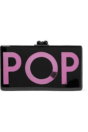 EDIE PARKER Jean Pop acrylic box clutch