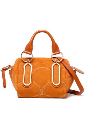 SEE BY CHLOÉ Leather-trimmed suede shoulder bag
