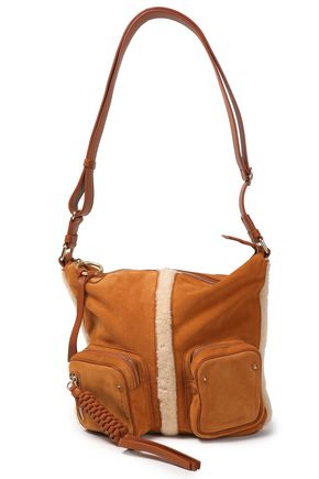 SEE BY CHLOÉ Leather and shearling-trimmed shoulder bag