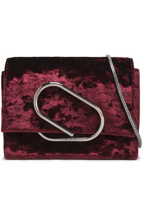3.1 PHILLIP LIM Alix crushed-velvet shoulder bag