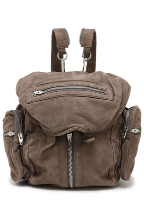 ALEXANDER WANG Zip-detailed suede backpack