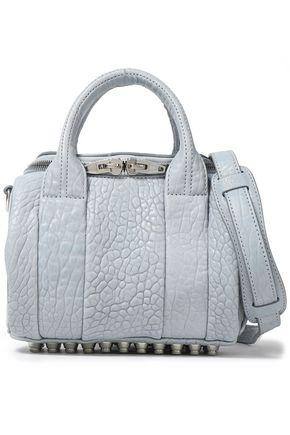 ALEXANDER WANG Studded textured-leather shoulder bag