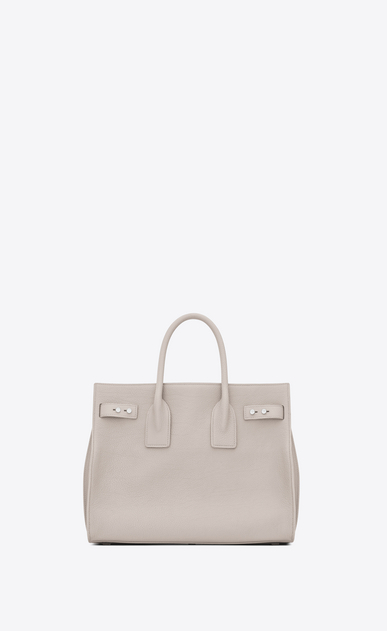 SAINT LAURENT Sac De Jour Supple Woman small sac de jour souple bag in icy white white grained leather b_V4