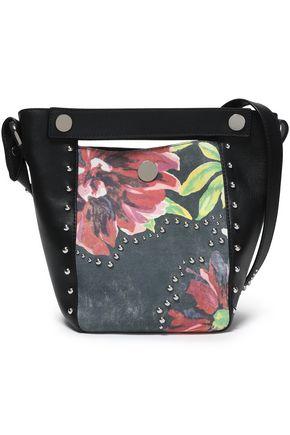 3.1 PHILLIP LIM Studded paneled floral-print  leather bucket bag