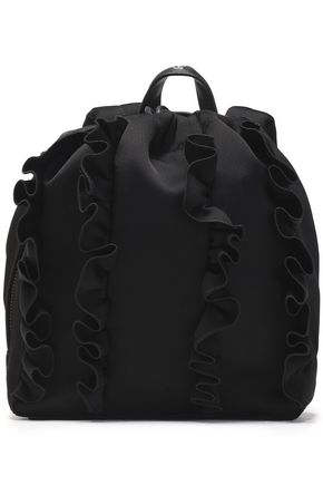 WOMAN GO-GO RUFFLED SATEEN BACKPACK BLACK