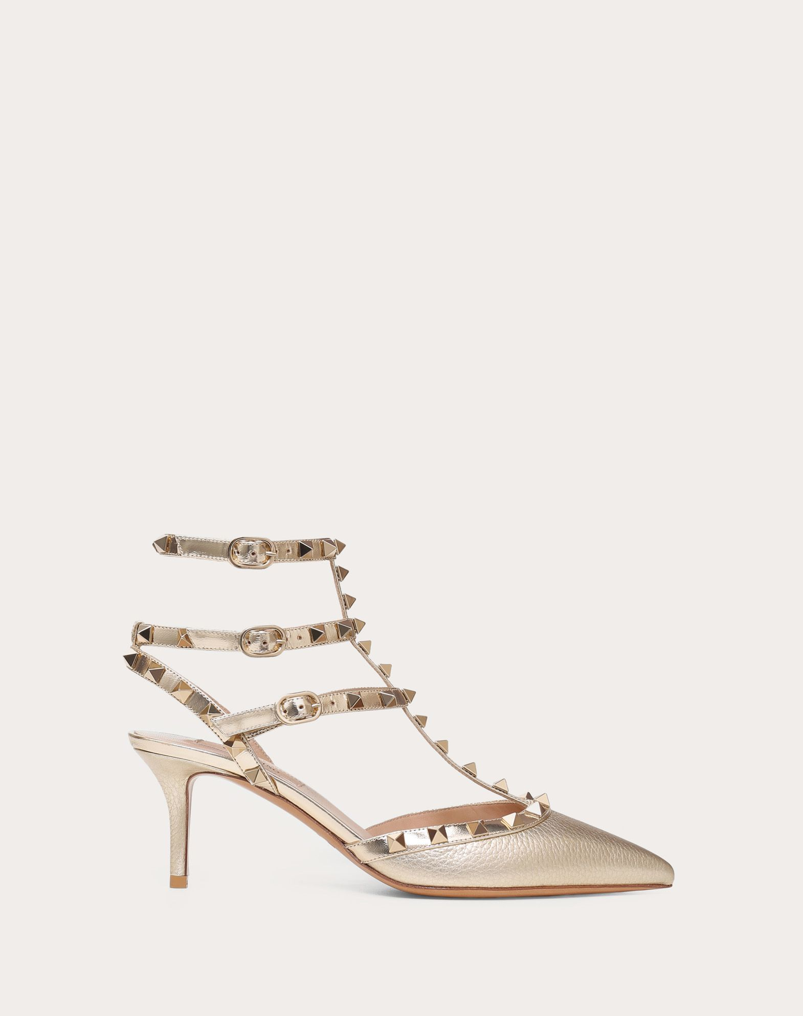 Metallic Rockstud caged Pump 65mm