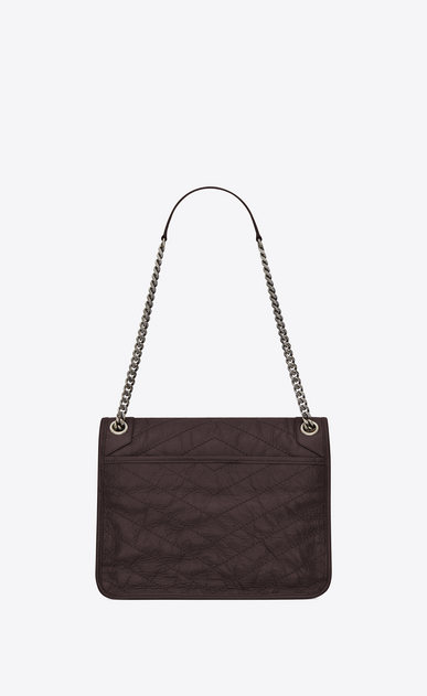 SAINT LAURENT Niki bags Woman medium niki chain bag in crinkled and quilted black tulip leather b_V4