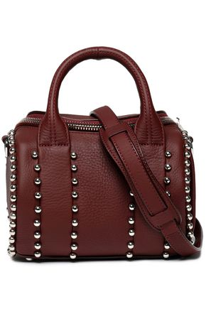 ALEXANDER WANG Rockie studded textured-leather shoulder bag