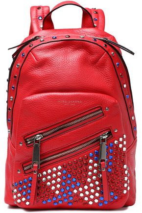MARC JACOBS Embellished textured-leather backpack