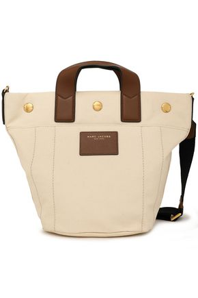 MARC JACOBS Leather-trimmed canvas shoulder bag