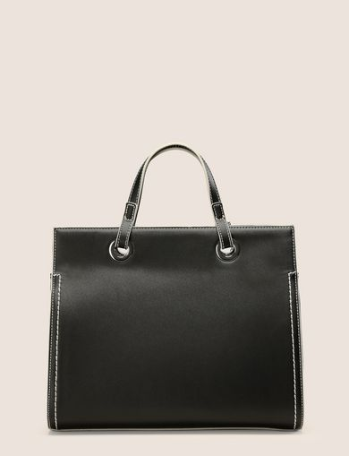 MEDIUM CONTRAST-STITCH SATCHEL