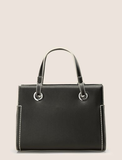 SMALL CONTRAST-STITCH SATCHEL