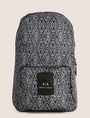ARMANI EXCHANGE NYLON TESSELLATED LOGO BACKPACK Backpack Man f
