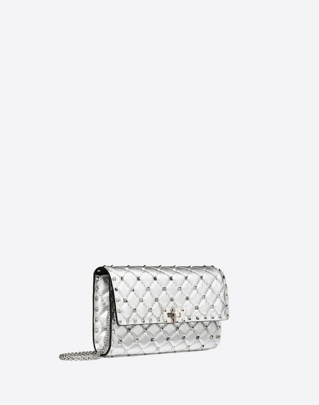 Metallic Spike Chain Clutch
