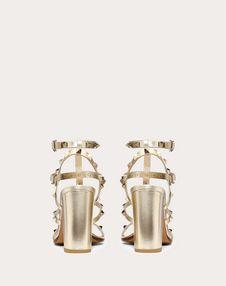 Metallic Rockstud caged Sandal 90mm