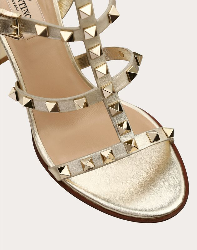 Metallic Cage Rockstud Sandal 90mm