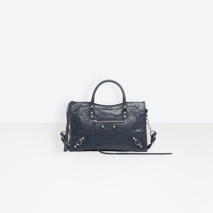 BALENCIAGA Classic Silver City S Classic City Handbag Woman f