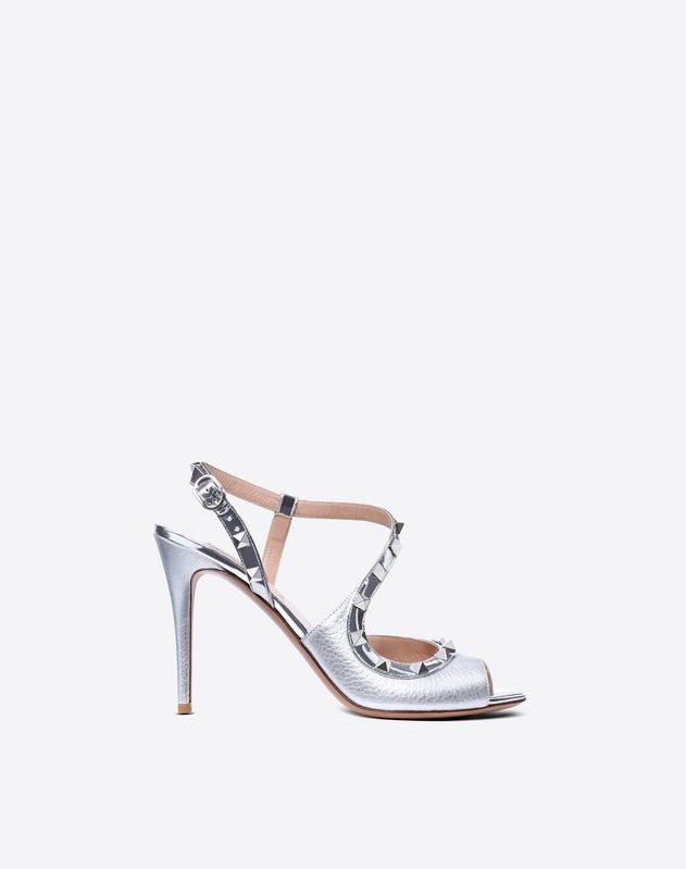 Metallic Rockstud Sandal 100mm