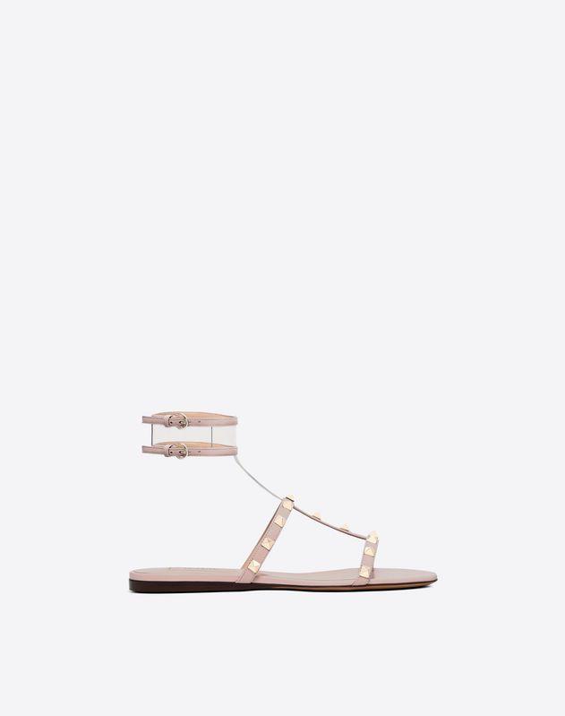 See-through flat sandal