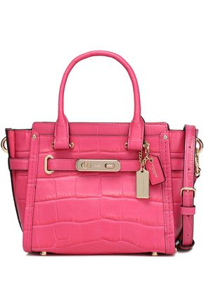 COACH Croc-effect leather shoulder bag
