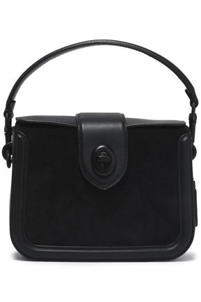 COACH Leather and suede shoulder bag