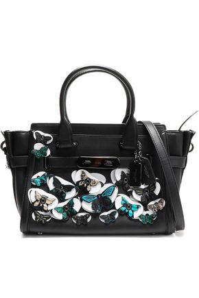 COACH Appliquéd leather shoulder bag