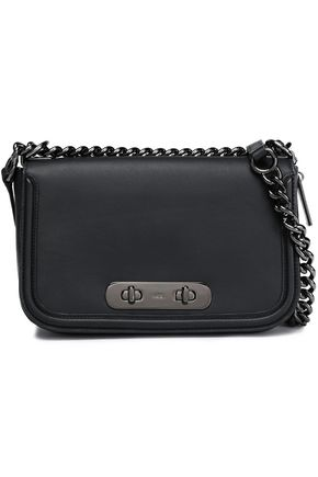 COACH Chain-trimmed leather shoulder bag