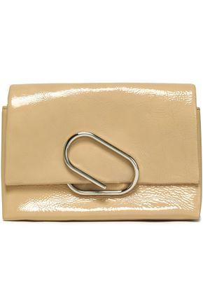 3.1 PHILLIP LIM Alix patent textured-leather clutch