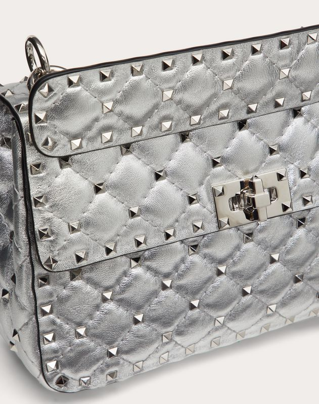 Medium Metallic Rockstud Spike Bag