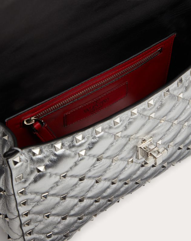 Borsa media Rockstud Spike metallizzata