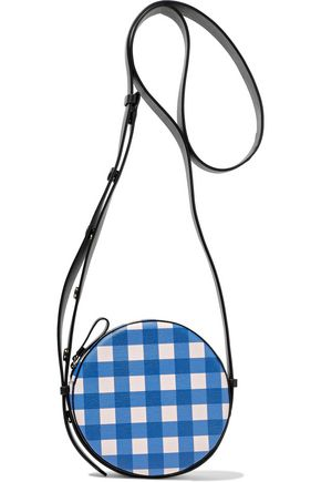 DIANE VON FURSTENBERG Gingham leather shoulder bag