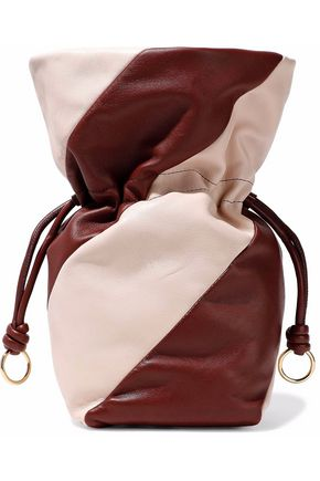 DIANE VON FURSTENBERG Two-tone leather bucket bag