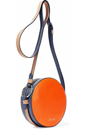 Leather Trimmed Calf Hair Shoulder Bag by Diane Von Furstenberg