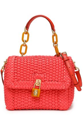 DOLCE & GABBANA Miss Dolce woven leather shoulder bag