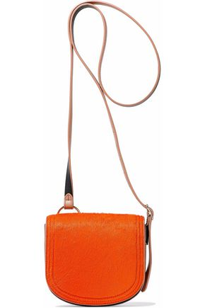 DIANE VON FURSTENBERG Two-tone calf hair and leather shoulder bag
