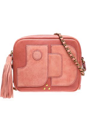 JÉRÔME DREYFUSS Pascal leather and suede shoulder bag